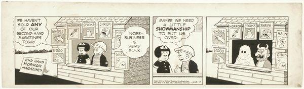 22: Bushmiller Nancy daily 6/13/44 original comic art
