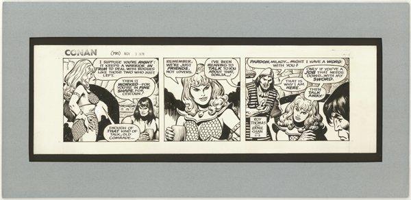 23: Chan Conan daily 11/3/78 original comic art