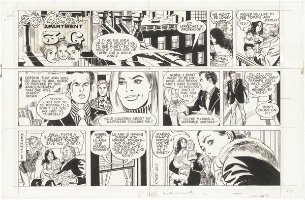 89: Kotzky Apartment 3G Sun 11/24/73 original comic art