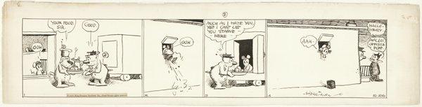 116: Herriman Krazy Kat dail 2/26/35 original comic art