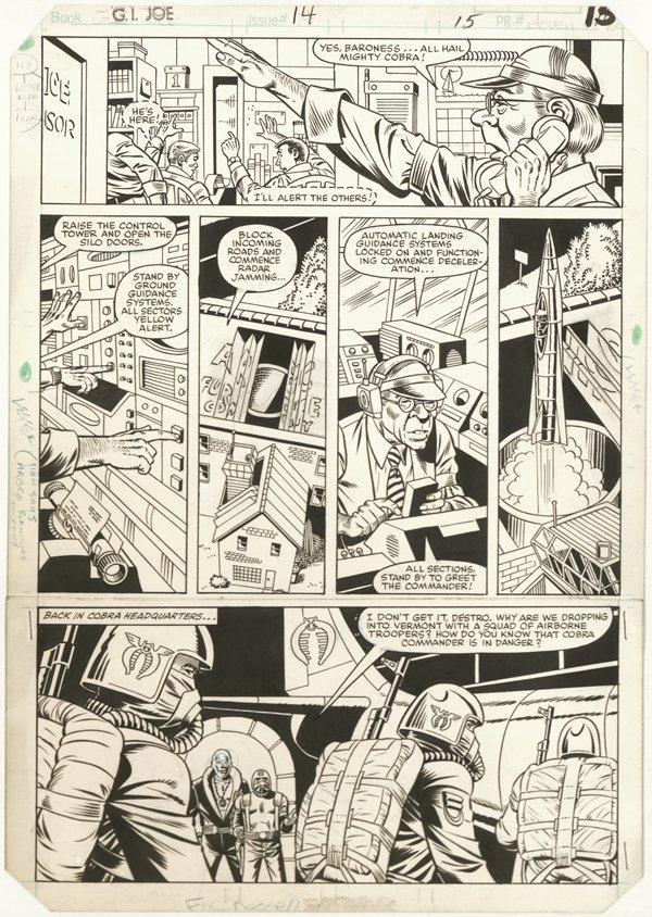 156: 6 GI Joe pages 1980s original comic art