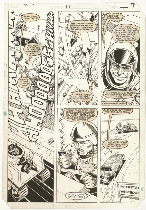 156: 6 GI Joe pages 1980s original comic art - 2