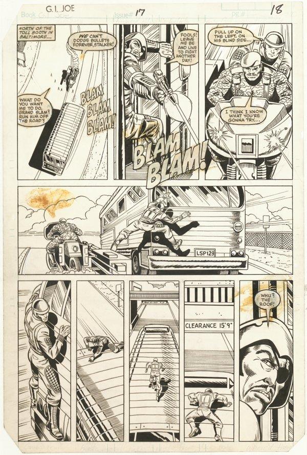 156: 6 GI Joe pages 1980s original comic art - 3