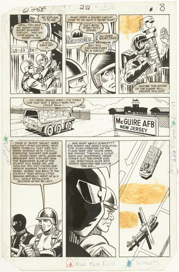 156: 6 GI Joe pages 1980s original comic art - 4