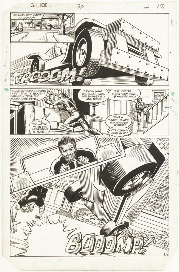 156: 6 GI Joe pages 1980s original comic art - 5