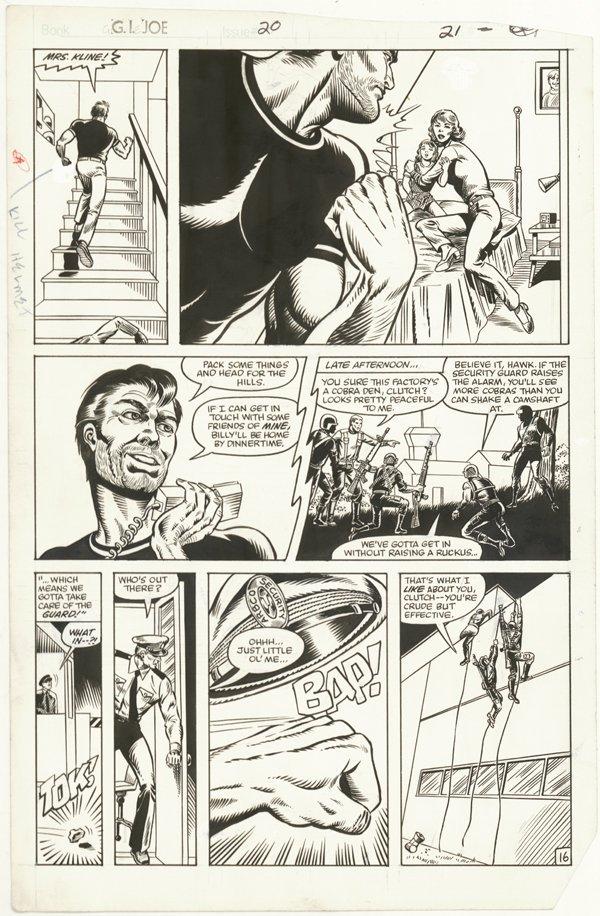 156: 6 GI Joe pages 1980s original comic art - 6