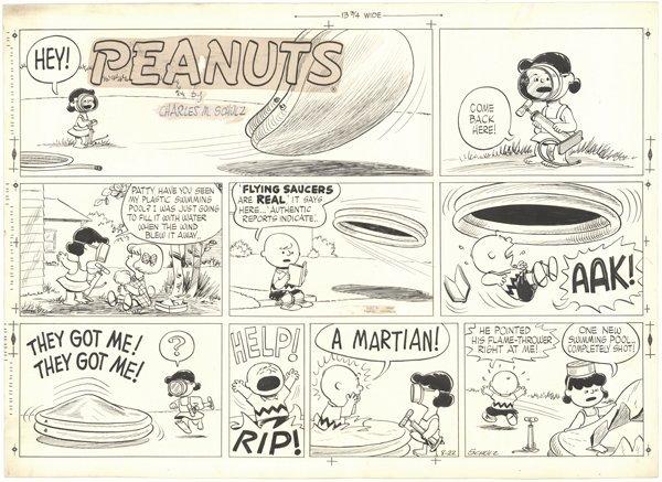 188: Schulz Peanuts Sunday 8/22/54 original comic art