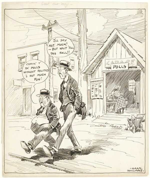 1: Williams Out Our Way daily original comic art