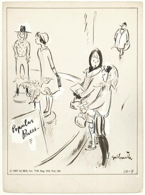 2: Galbraith Side Glances daily 1961 original comic art