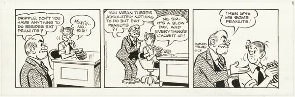 4: Lewis Tune Lemont Lants Schneider original comic art - 2