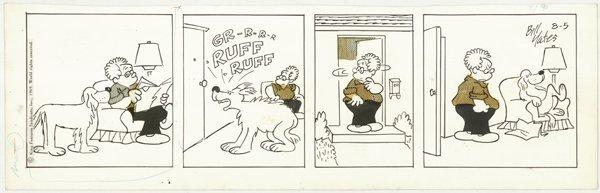 9: Yates 5 Professor Phumble dailies original comic art