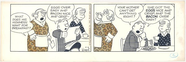 11: Wingert 4 Hubert dailies 1970s original comic art
