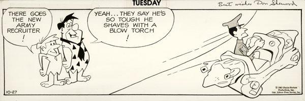 13: Hanna-Barbera 3 Flintstones d original comic art