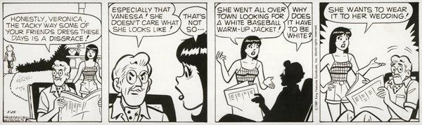 14: DeCarlo Archie daily 5/25/81 original comic art