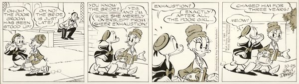 15: Disney Donald Duck daily 1963 original comic art