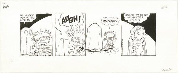 19: Robert Blyberg 2 Rugrats dailies original comic art