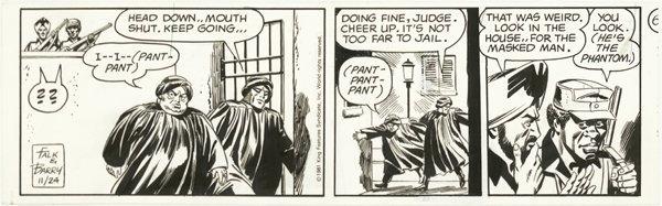 20: Barry 3 Phantom dailies 1981 original comic art