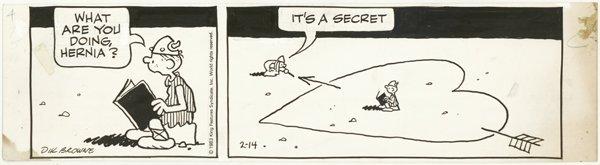 21: Browne 2 Hagar dailies original comic art