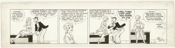 22: Young Blondie daily 3/13/31 original comic art