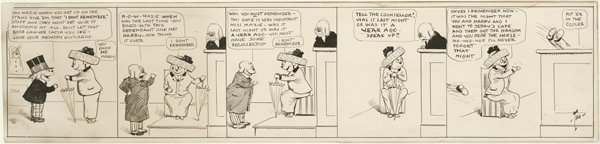 24: Dorgan Silk Hat Harry daily 1912 original comic art