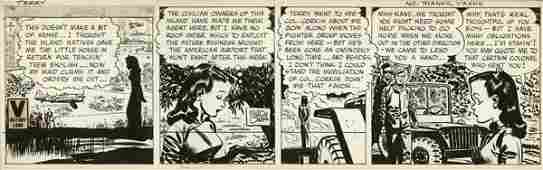 48: Caniff Terry 1945 Canyon 1955 original comic art