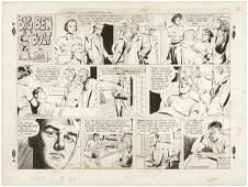 94 Murphy Big Ben Bolt Sunday 1953 original comic art