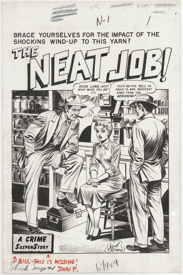 146: Kamen The Neat Job! 8pgs SSS #1 original comic art