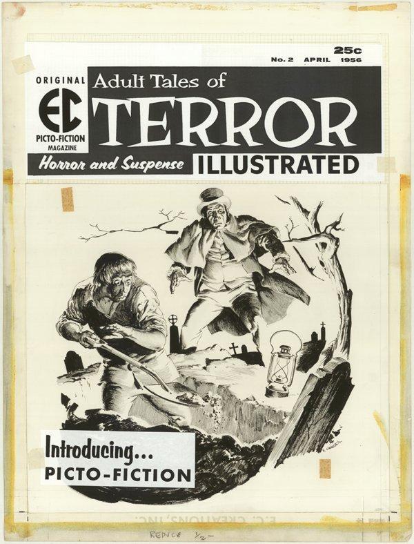 152: Crandall Terror Ill #2 cover original comic art