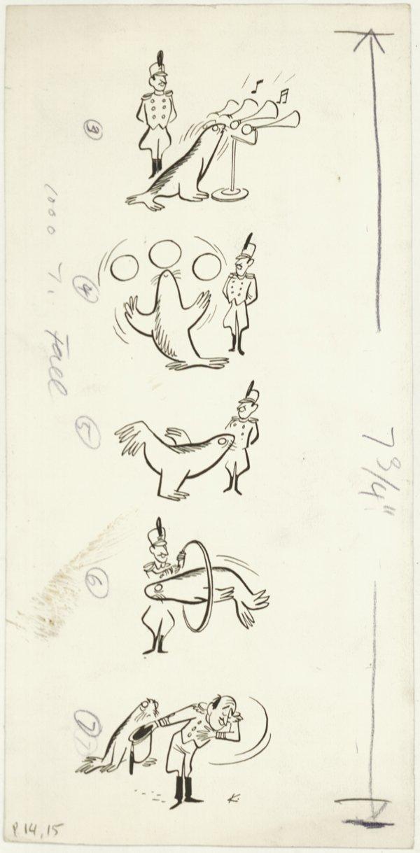 2: Ketcham  gag panels late 1940s original comic art