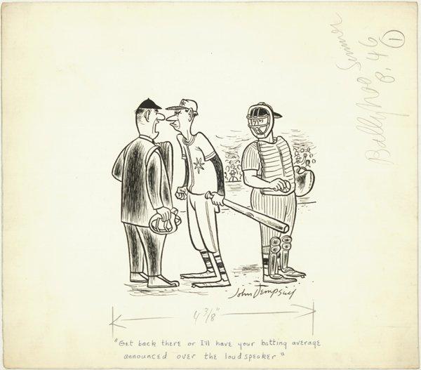 5: Dempsey Ballyhoo Magazine panel original comic art