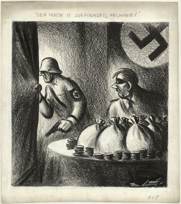 6: Little political cartoon 7/14/43 original comic art