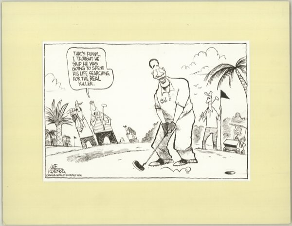 7: Koterba editorial cartoon 1995 original comic art