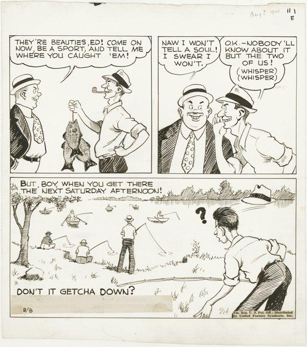 8: Dodd Back Home Again daily 8/8/40 original comic art