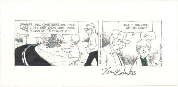 14: Batiuk Ayers Crankshaft daily original comic art