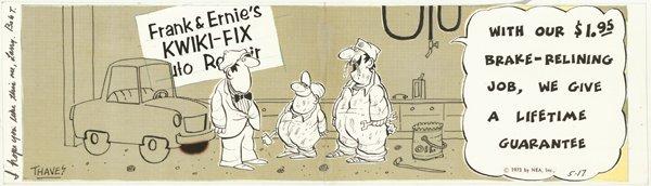 23: Thaves  2 Frank and Ernest original comic art