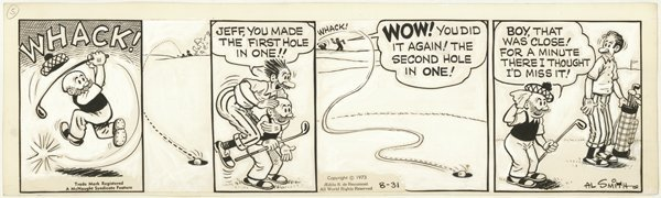 24: Smith  2 Mutt and Jeff dailies original comic art