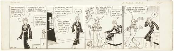 44: Branner Winnie Winkle daily 1/35 original comic art