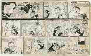 103: Capp Frazetta Li'l Abner Sun original comic art