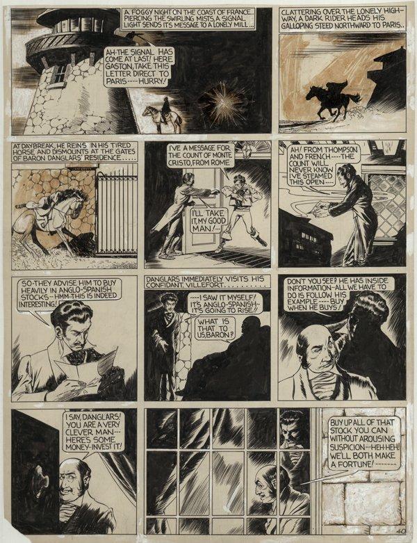 135: Fine Count of Monte Cristo 1940 original comic art