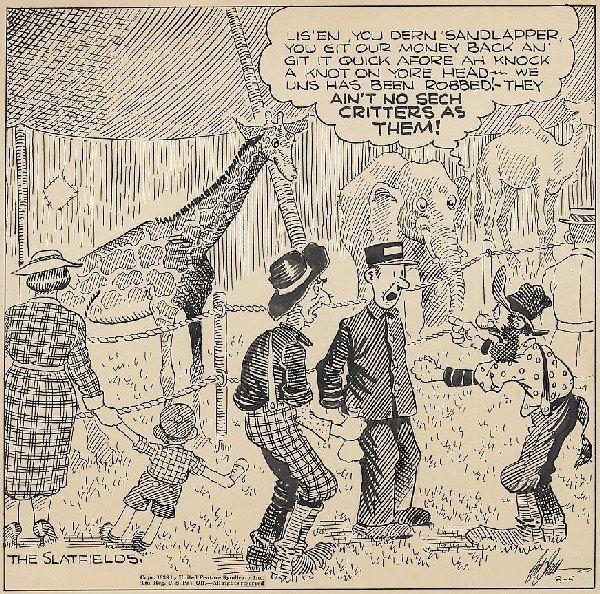 5: Dodd Back Home Again 8/5/38 original comic art
