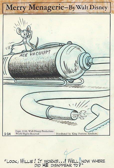 8: Disney Merry Menagerie 1/14/48 original comic art