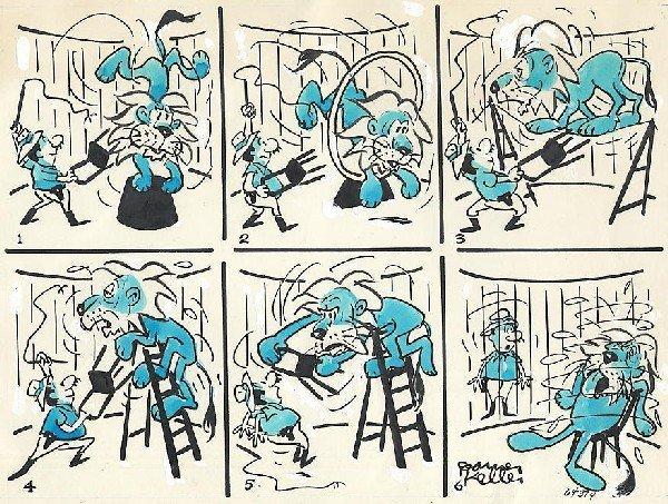 9: Keller six-panel cartoon 6/26/64 original comic art