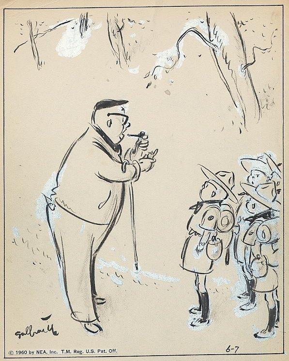 11: Galbraith Side Glances 6/7/60 original comic art