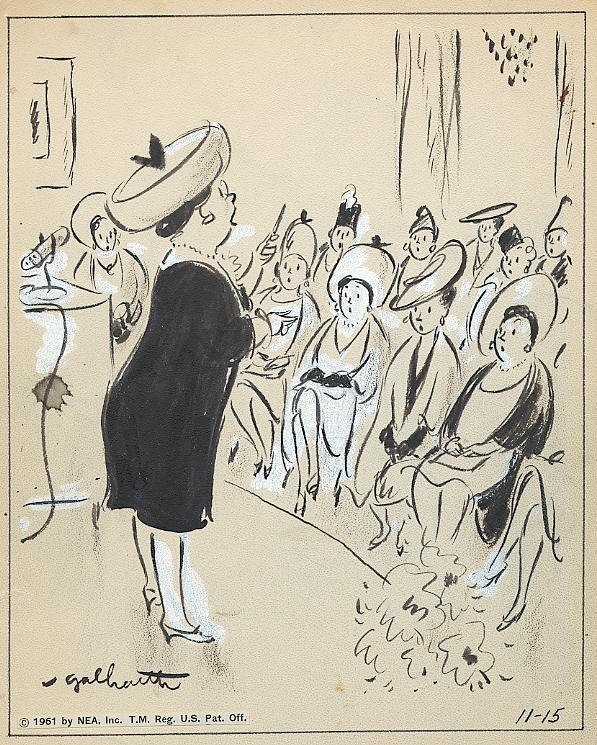 12: Galbraith Side Glances 11/15/61 original comic art