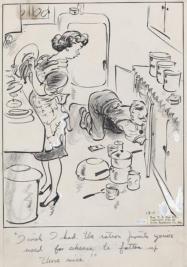 13: Clark The Neighbors 12/1/44 original comic art