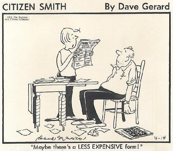 17: Gerard Citizen Smith 4/14/71 original comic art