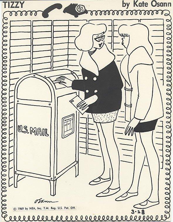 18: Osann Tizzy daily 3/28/69 original comic art