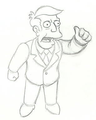 20: Simpsons 7 Lenny Apu Willy original animation art