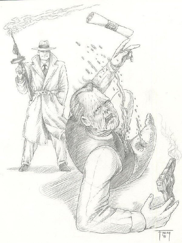 21: Finlay 2 Dick Tracy illustration original comic art