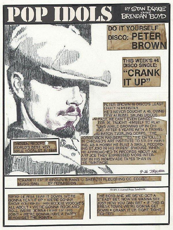 24: Drake Pop Idols daily 9/26/79 original comic art